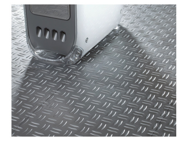Garage mit Bodenplatten Typ WORK mit Diamant Oberfläche