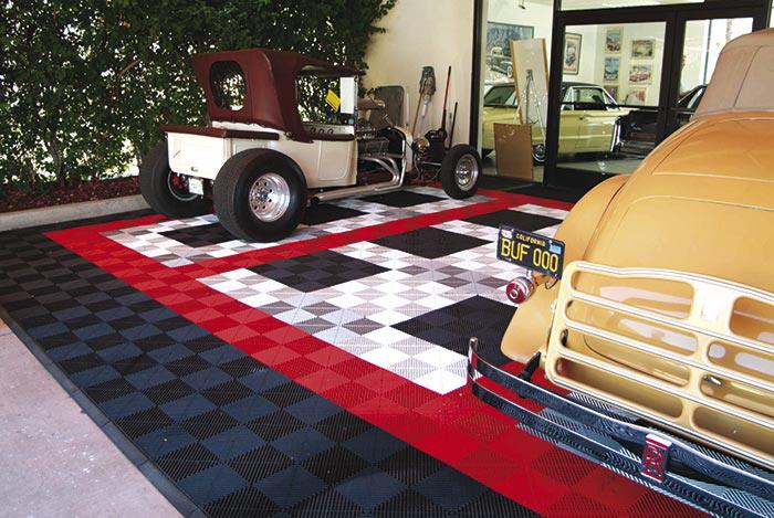 Bodenplatten Typ Rip TEC  für Garagen und Ausstellungen