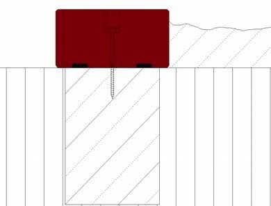 Skizze zur Befestigung der elastischen Sandkasten-Umrandung