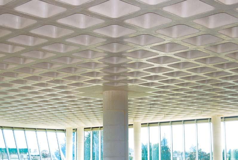 Zweiachsige Decke mit Schalungssystem SKYDOME hergestellt