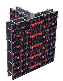 Geopanel ist unsere benutzerfreundliche modulare wiederverwendbare Schalung für den Bau von Betonwänden, Fundamenten  und Schachtkonstruktionen.