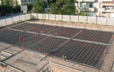 MODULO - Antike Fundamente im Jahre 2021 vor der Betonschüttung