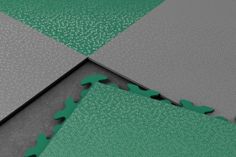 PVC-Boden.Fliese Typ INVISIBLE mit verdeckten Puzzle-Verbindungen