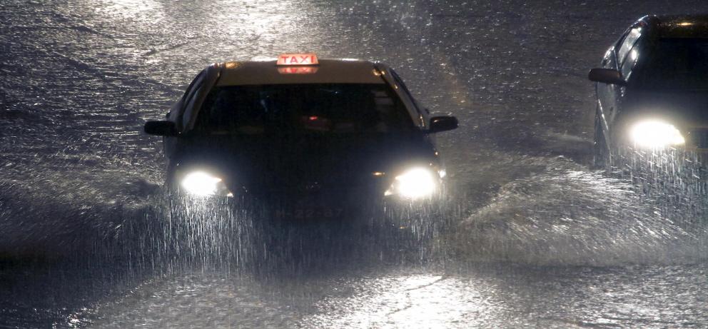 Schutz vor überflutete Straßen und Häuser