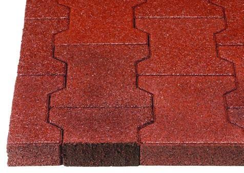 Regupol® Verbundpflaster lassen sich auf gebundene und ungebundene Tragschichten entsprechend den bekannten Betonsteinen verlegen