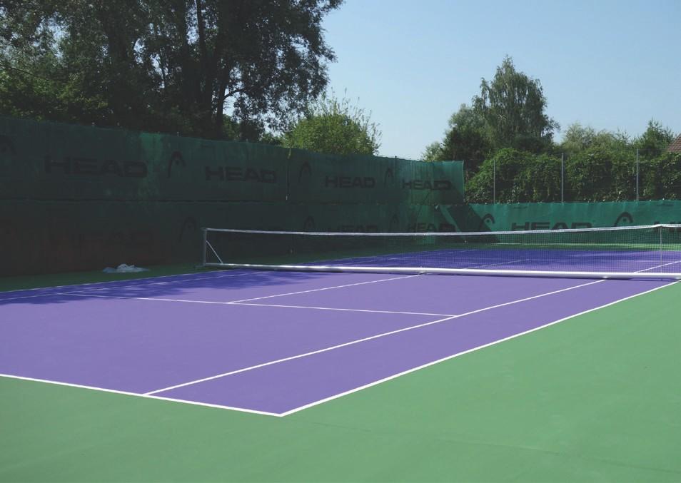 vVerschiedenfarbige Sport- und Spielflächen aus HDPM Granulat-Platten herstellen