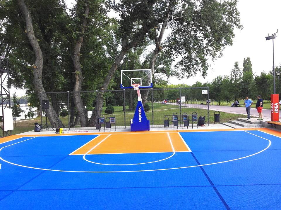 Basketball Kleinspielfeld für 3 x 3 Spiel